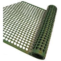 Menuiserie - Huisserie - Cloture NATURE Grillage pour parterre - HDPE vert - Maille rectangle 20x30 mm - 0.5x3 m