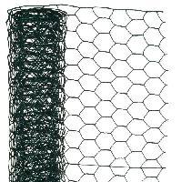 Menuiserie - Huisserie - Cloture NATURE Maille hexagonale en acier galvanise plastifie vert - O 13 mm - 50cmx2.50 m