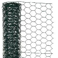 Menuiserie - Huisserie - Cloture NATURE Maille hexagonale en acier galvanisé plastifié vert - Ø 25 mm - 50cmx10 m