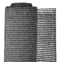 Menuiserie - Huisserie - Cloture NATURE Natte brise-vue avec set de fixation - En HDPE - Gris anthracite - Occultation 95%. 190 g/m² - 1 x 3 m