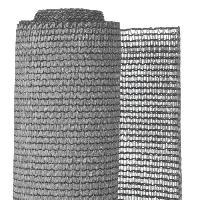 Menuiserie - Huisserie - Cloture NATURE Natte brise-vue avec set de fixation - En HDPE - Gris clair - Occultation 95%. 190 g/m² - 1.2 x 5 m