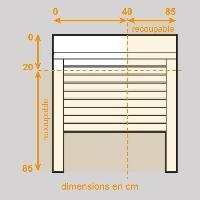 Menuiserie - Huisserie - Cloture Volet roulant aluminium - H 0.85 x L 0.85 m - Manoeuvre électrique filaire - Blanc