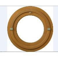 Menuiserie - Huisserie - Cloture oeil de boeuf rond 1 vantail - H.60 x L.60 cm - Bois exotique