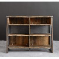 Meuble Bar - Comptoir De Bar PRIME Meuble de bar - Décor bois patiné gris - L 140 cm - Aucune