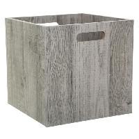 Meuble Boîte de rangement 31x31 cm - Bois gris