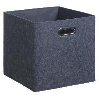 Meuble Boîte de rangement 31x31 cm - Feutrine Gris foncé
