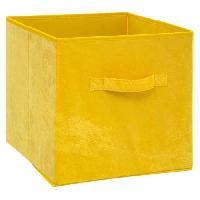 Meuble Boîte de rangement 31x31 cm - Velours - Jaune
