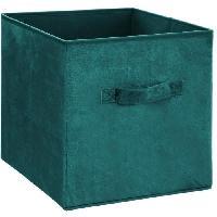 Meuble Boîte de rangement 31x31 cm - Velours Bleu