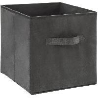 Meuble Boîte de rangement 31x31 cm - Velours Gris foncé