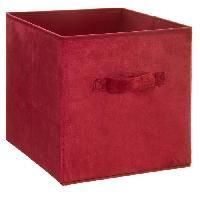 Meuble Boîte de rangement 31x31 cm - Velours Rouge