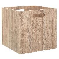 Meuble Boîte de rangement pliable en bois - 31 x 31 cm - Naturel