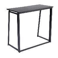 Meuble De Bureau ASCOLI Bureau en metal et PVC Noir - L 80 cm