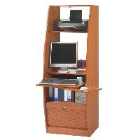 Meuble De Bureau Armoire informatique style contemporain decor merisier - L 60 cm