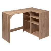 Meuble De Bureau Bureau avec rangement 4+2 cases- Decor naturel - L 110 x P 69 x H 75 cm