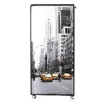 Meuble De Bureau Bureau informatique contemporain 2 tiroirs 65.2 cm - Noir imprime New York