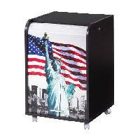 Meuble De Bureau Caisson de bureau 2 tiroirs Contemporain - Noir New York - L 47.2 cm