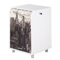 Meuble De Bureau Caisson de bureau 2 tiroirs New York Contemporain - Blanc - L 47.2 cm