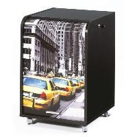 Meuble De Bureau Caisson de bureau 2 tiroirs Taxis Jaunes Contemporain Noir - L 47.2 cm