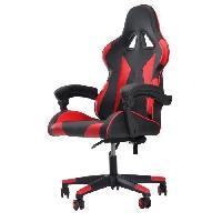 Meuble De Bureau Chaise de bureau gaming - Simili noir et rouge - L 76 x P 50 x H123-132 cm - KAOS
