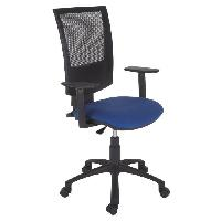 Meuble De Bureau HASHTAG Chaise de bureau - Tissu bleu - L 65 x P 65 x H 106 cm