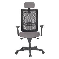 Meuble De Bureau INSPIRATION Chaise de bureau - Dossier maille résille gris - L 69 x P 69 x H 126 cm