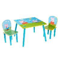 Meuble De Bureau Peppa Pig - Ensemble table et 2 chaises pour enfants
