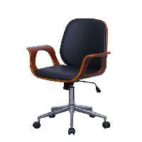 Meuble De Bureau WOOD Chaise de bureau avec accoudoirs bois - L 57 x P 66.5 x H 87-95 cm