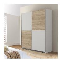 Meuble De Chambre Armoire 170 x 190 x 61 cm decor chene et blanc