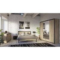 Meuble De Chambre COLORADO Commode 6 tiroirs - Decor Chene Kronberg - L 129.1 x H 77.1 x P 41.8 cm - Aucune