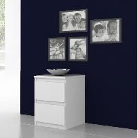 Meuble De Chambre Chevet NATTi 2 tiroirs 42x56cm blanc