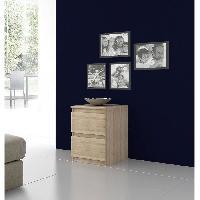 Meuble De Chambre Chevet NATTi 2 tiroirs 42x56cm chene