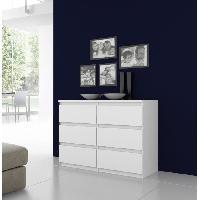 Meuble De Chambre Commode NATTI 110cm blanc