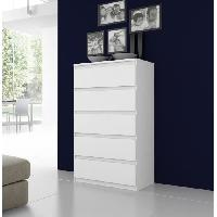 Meuble De Chambre Commode NATTI 78cm blanc