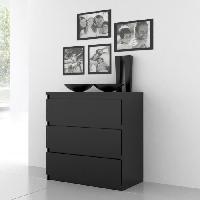 Meuble De Chambre Commode NATTI 78cm noir