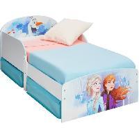 Meuble De Chambre Disney La Reine des Neiges - Lit pour enfants avec espace de rangement sous le litpour matelas 140cm x 70cm