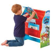 Meuble De Chambre La Pat' Patrouille - Bibliotheque a pochettes pour enfants - Rangement de livres pour chambre d'enfant