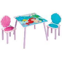 Meuble De Chambre Table et 2 chaises d'Ariel en MDF.