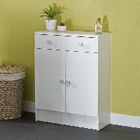 Meuble De Cuisine GALET Meuble de salle de bain L 60 cm - Blanc - Generique
