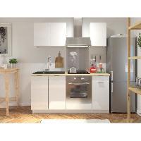 Meuble De Cuisine IBI Cuisine complete 1m80 - Blanc laque