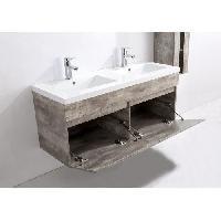 Meuble De Salle De Bain ALBAN Ensemble salle de bain double vasque L 120 cm - Gris
