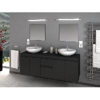 Meuble De Salle De Bain CINA Ensemble salle de bain double vasque L 150 cm - Gris mat