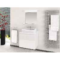 Meuble De Salle De Bain CINA Ensemble salle de bain simple vasque L 60 cm - Blanc laque