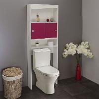 Meuble De Salle De Bain GALET Meuble WC ou machine a laver L 64 cm - Rose fuchsia mat Generique