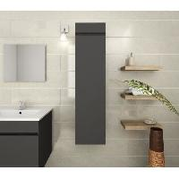 Meuble De Salle De Bain LUNA Colonne de salle de bain L 25 cm - Gris mat Generique