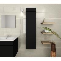 Meuble De Salle De Bain LUNA Colonne de salle de bain L 25 cm - Noir mat Generique