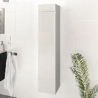 Meuble De Salle De Bain LUNA / LIMA Colonne de salle de bain L 25 cm - Blanc brillant Generique