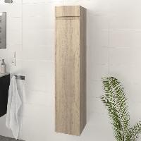 Meuble De Salle De Bain LUNA / LIMA Colonne de salle de bain L 25 cm - Décor chene sonoma - Generique