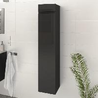Meuble De Salle De Bain LUNA / LIMA Colonne de salle de bain L 25 cm - Gris brillant - Generique