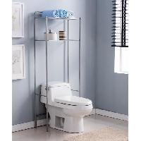 Meuble De Salle De Bain Pont WC en métal - Gris aluminium - L 62 x P 25 x H 151 cm Aucune
