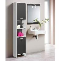 Meuble De Salle De Bain TOP Colonne de salle de bain L 40 cm - Blanc et gris mat Generique